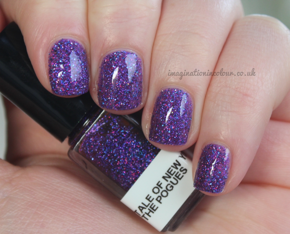 Stellar Fairytale of New York - the pogues - indie nail polish