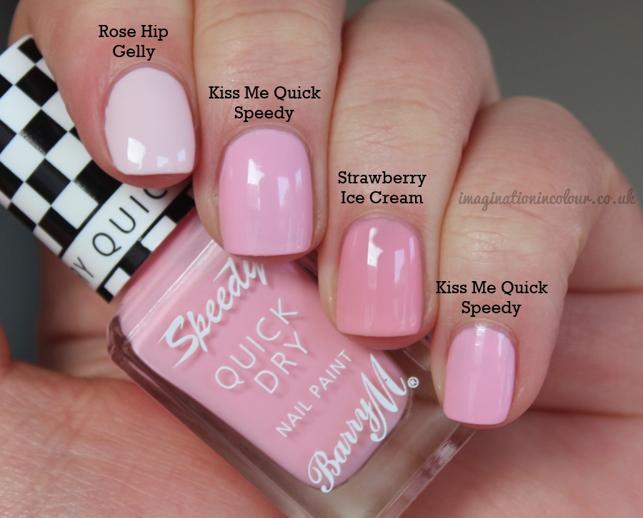 Barry M Kiss Me Quick Speedy Comparison