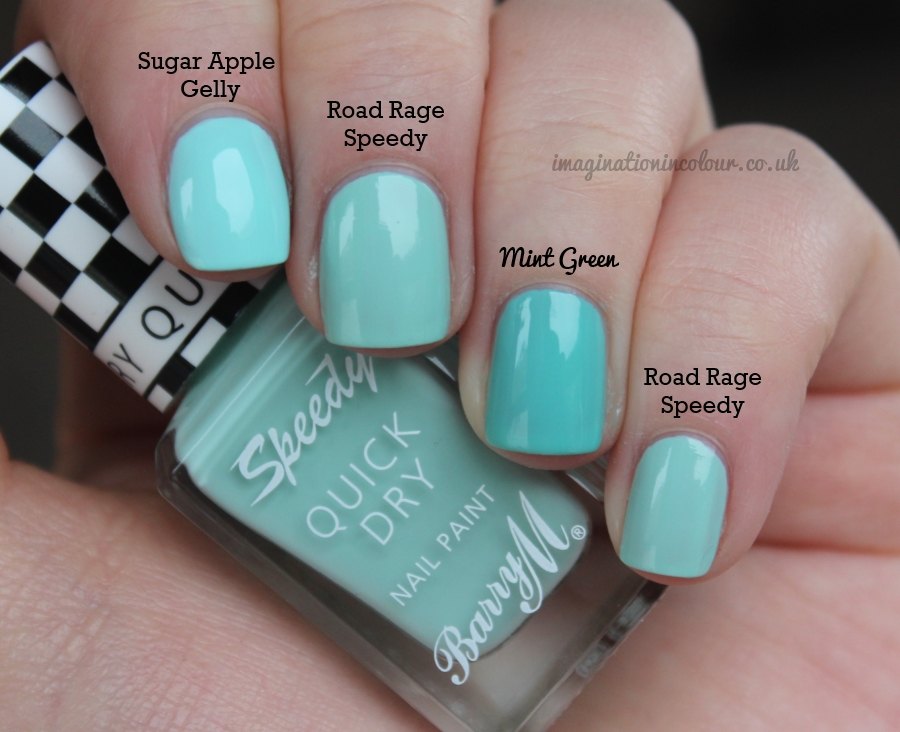 Barry M Road Rage Speedy Comparison