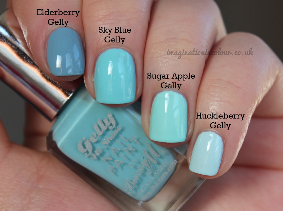 Barry M Sky Blue Gelly Comparison