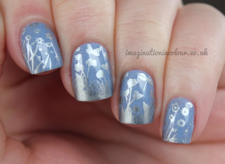 Blue Silver Landscape Mother Nature MoYou Stamping