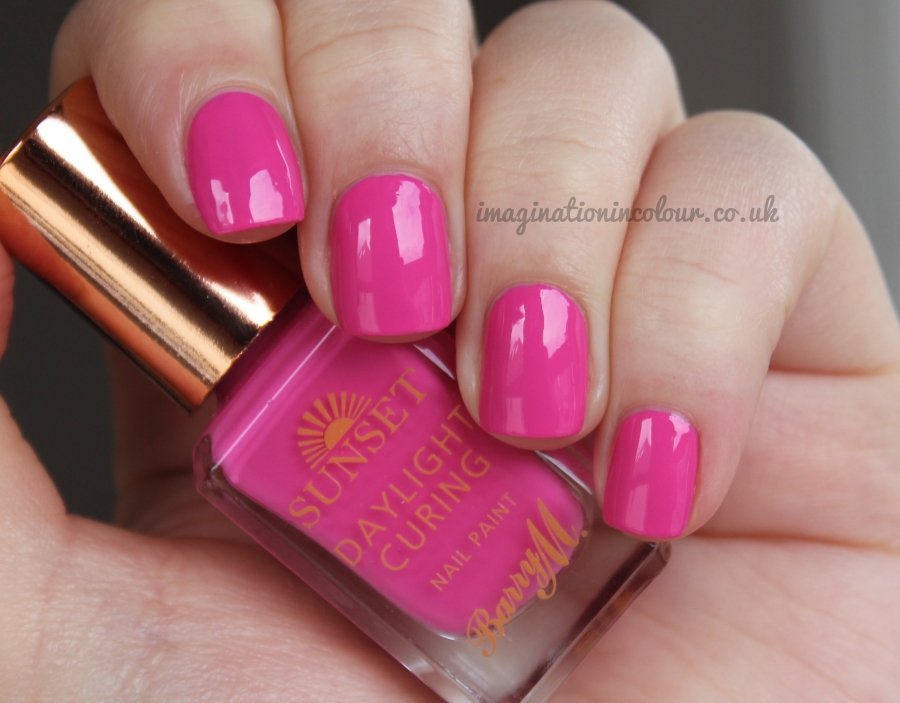 Barry M I've Been Pinkin' Sunset Daylight Curing