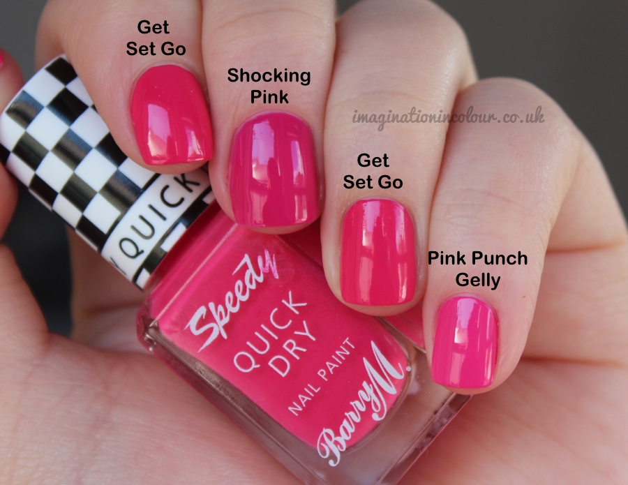 Barry M Speedy Get Set Go Quick Dry Comparison
