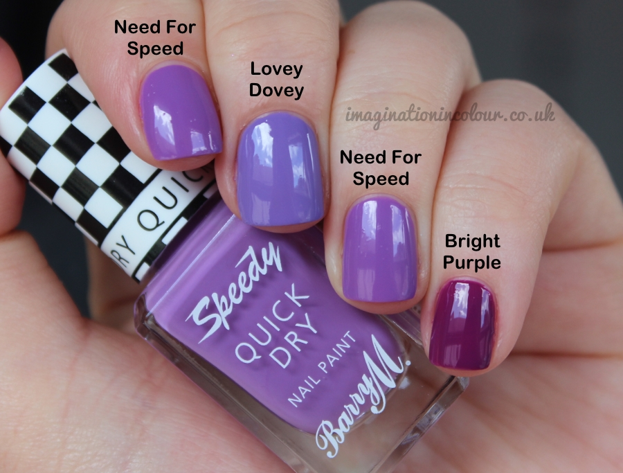 Barry M Speedy Need for Speed Quick Dry Comparison