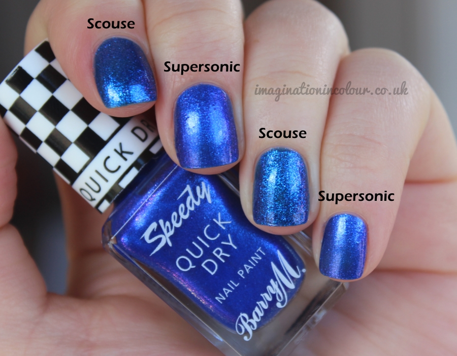 Barry M Speedy Supersonic Quick Dry Comparison