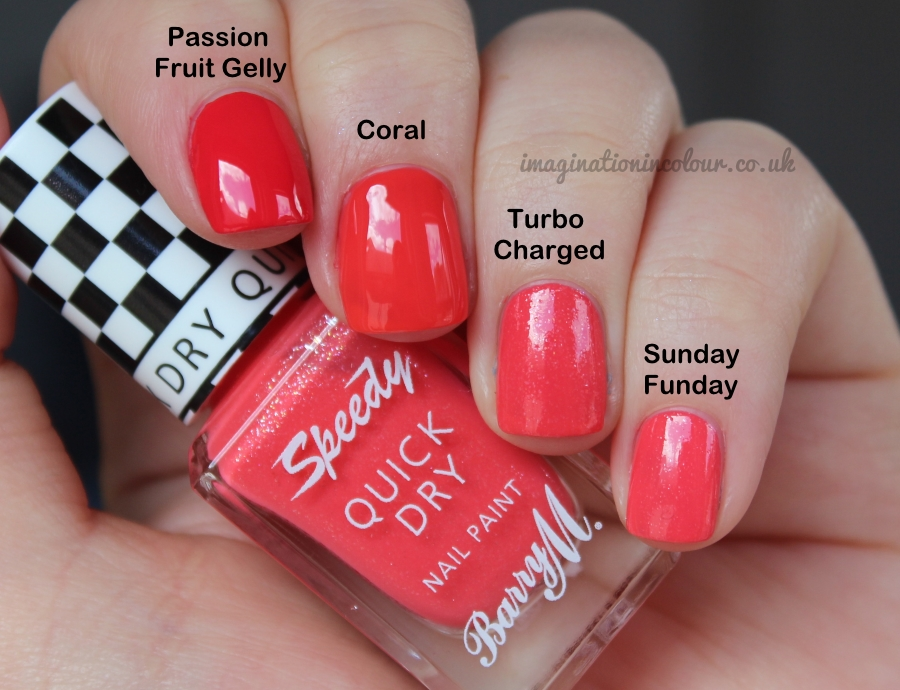 Barry M Speedy Turbo Charged Quick Dry Comparison
