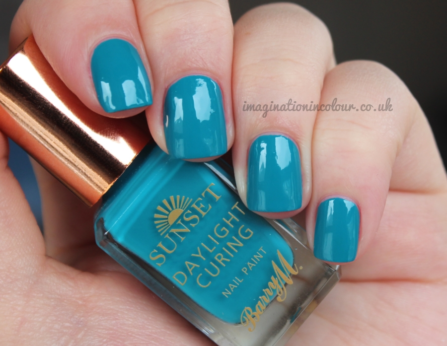 Barry M The Way You Make Me Teal Sunset Daylight Curing
