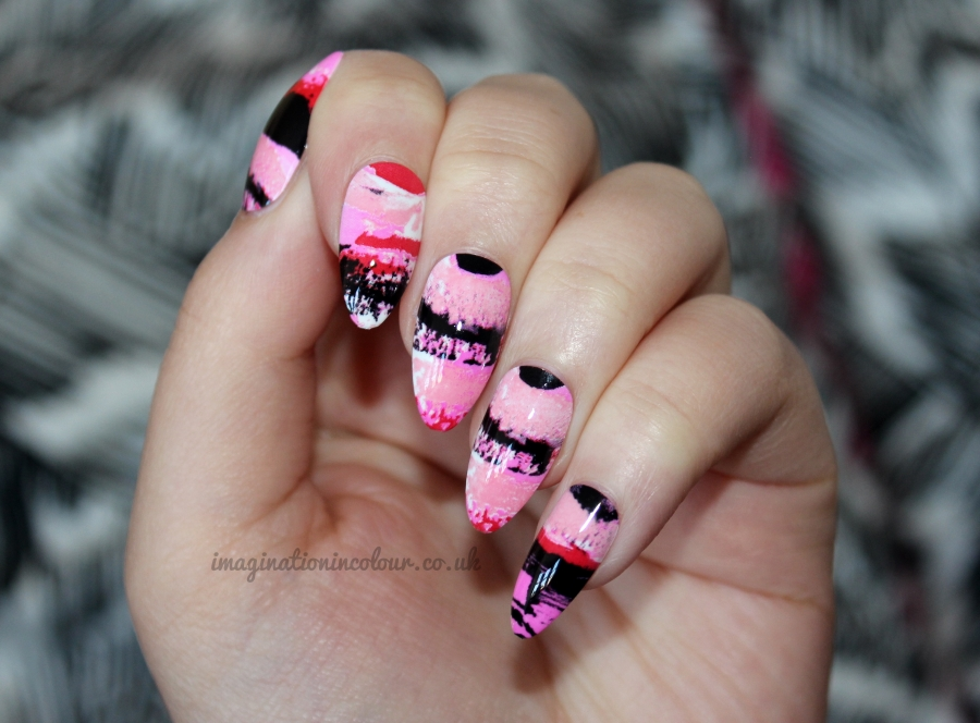 WAH London The Pink Brush Press On Nails 3