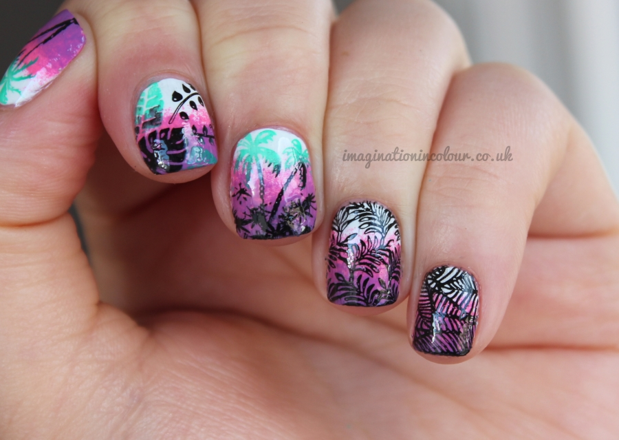 Tropical Nail Art MoYou Plate 12